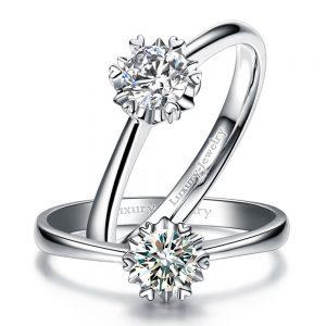 טבעת אירוסין סוליטר לבבות