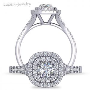 טבעת אירוסין דאבל הלו