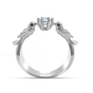 טבעת אירוסין זוג יונים