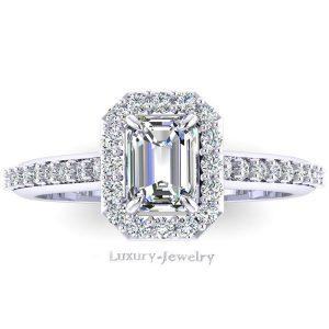 טבעת אירוסין אמרלד