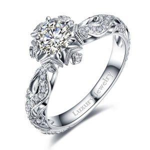 טבעת אירוסין פתית שלג