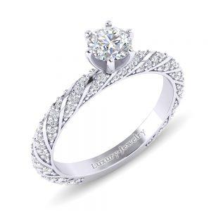 טבעת אירוסין קורדובה טבעת אירוסין מעוצבת מבית לקצ'ורי תכשיטים