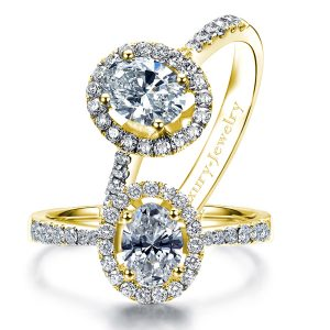 טבעת אירוסין יהלום אובל