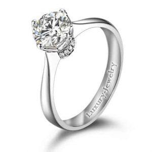 טבעת אירוסין כתר מלכות