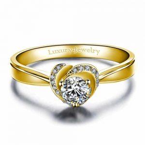טבעת אירוסין ורד