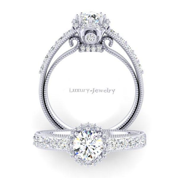 טבעת אירוסין וינטאג' 2019 זהב לבן