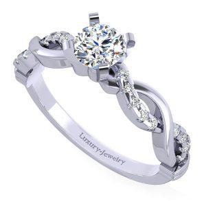 טבעת אירוסין מעוצבת מבית לקצ'ורי תכשיטים טוויסטי