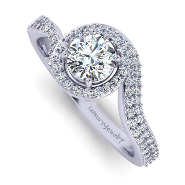 טבעת אירוסין דיאמונד זהב לבן