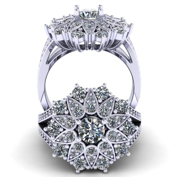 טבעת אירוסין טיילור זהב לבן