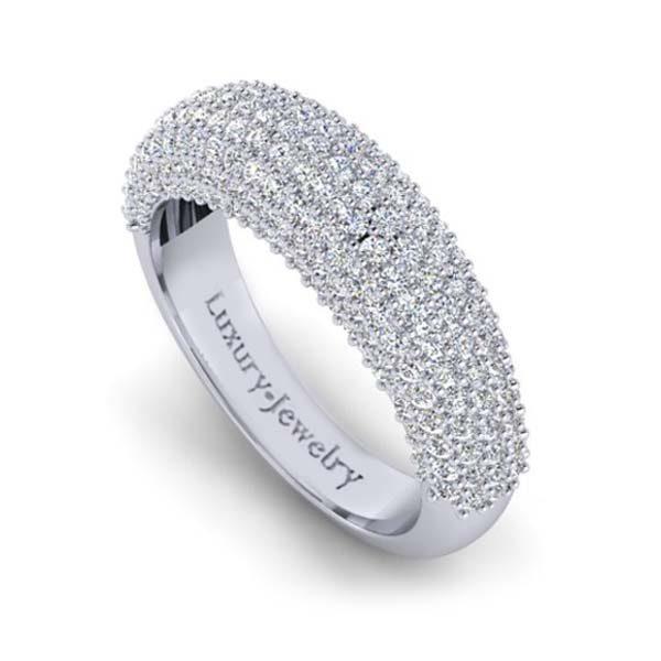 טבעת יהלומים הגבעה זהב לבן