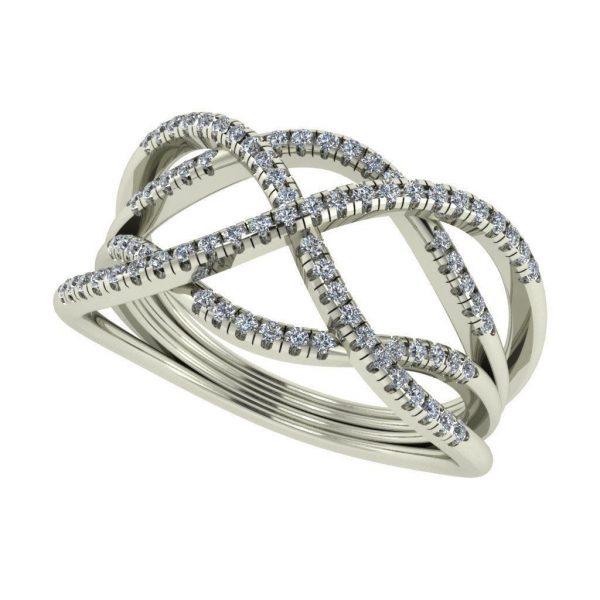 טבעת יהלומים מיוחדת זהב לבן