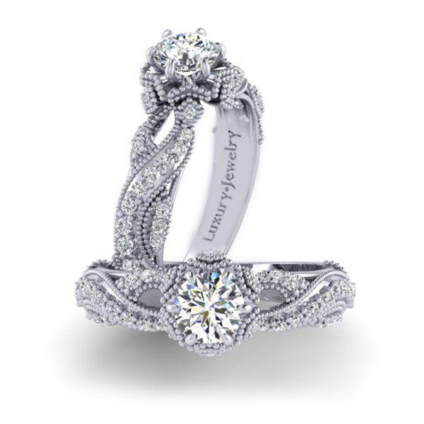 טבעת אירטסין וינטאג' הארדקור זהב לבן