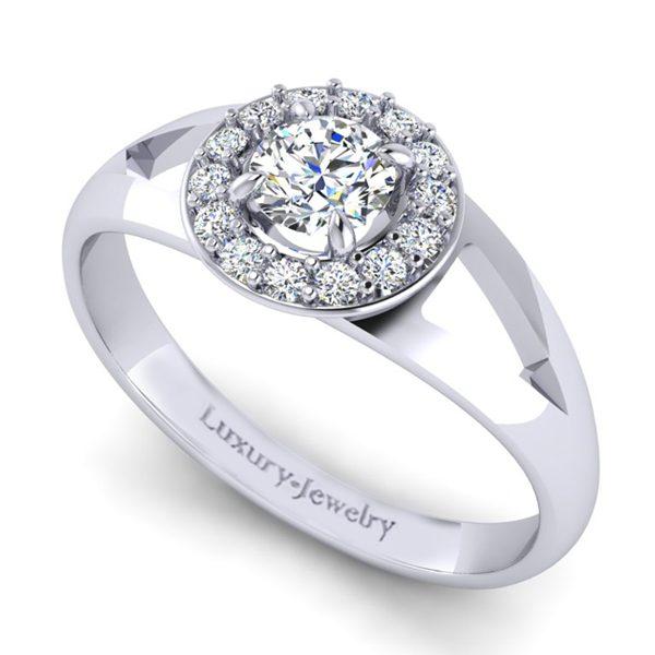 טבעת אירוסין ברק זהב לבן