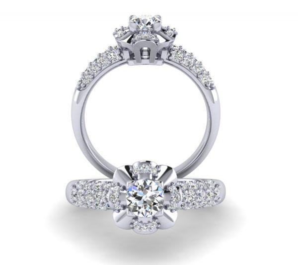 טבעת אירוסין חופה זהב לבן