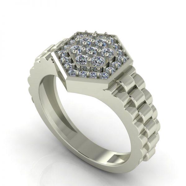 טבעת יהלומים לגבר גנט
