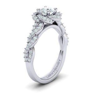 טבעת אירוסין טוויסטד גולד זהב לבן עיצוב ייחודי מקטגוריה טבעות אירוסין טוויסט