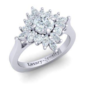 טבעת אירוסין מעוצבת סחלב