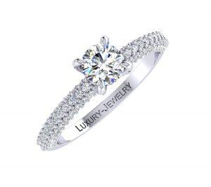טבעת אירוסין ויולט