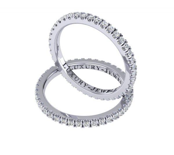 טבעת יהלומים מסביב חצי קראט