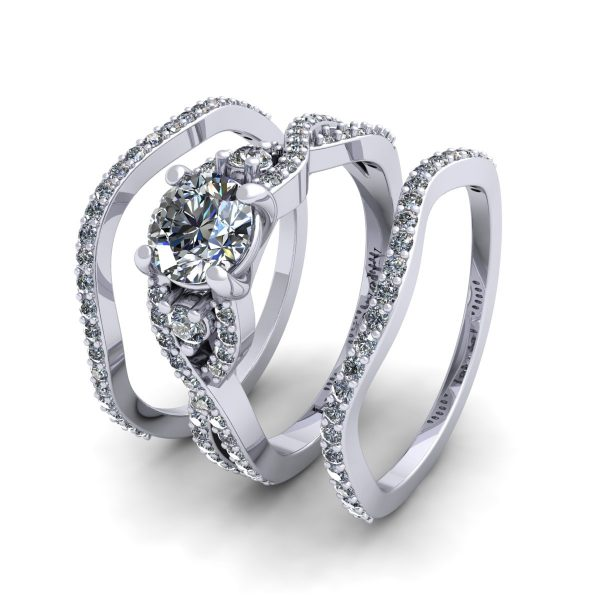 טבעת אירוסין תלת