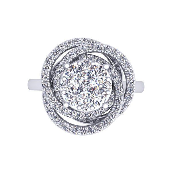 טבעת יהלומים טורנדו