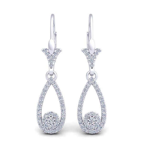 עגילי יהלומים מרי