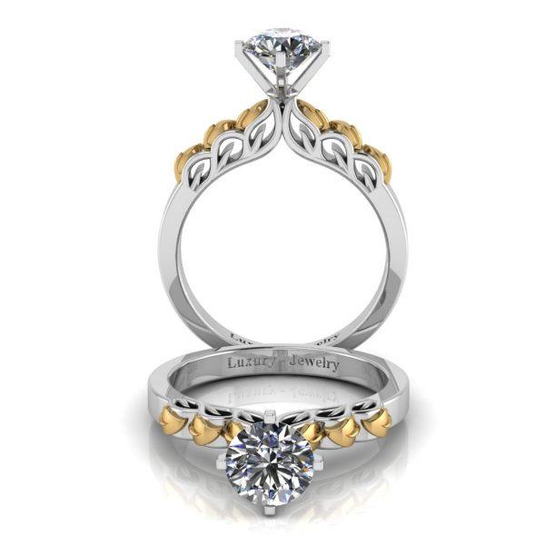 טבעת אירוסין אהבה כאש