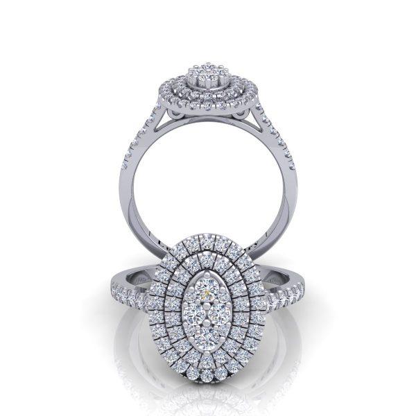 טבעת יהלומים אבול