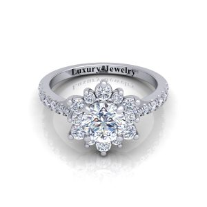 Spring engagement ring
