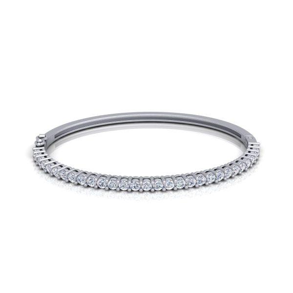 צמיד יהלומים קשיח 2 קראט