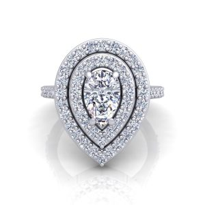 A tear engagement ring