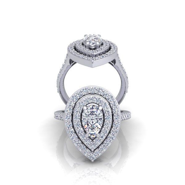טבעת אירוסין דמעה