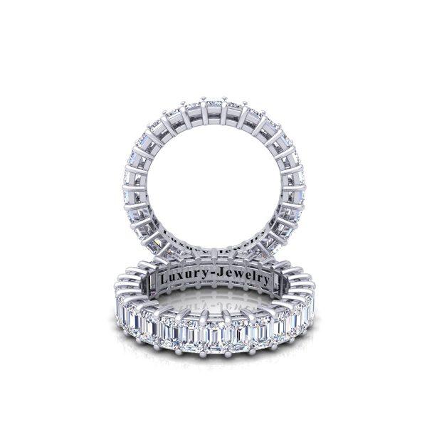 טבעת איטרניטי אמרלדים 3.50 קראט
